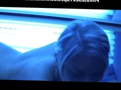 Playful chick couple fucking porn in solarium and at home