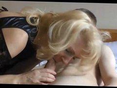 Mature Blonde Wife Cuckolding Husband with a Teen