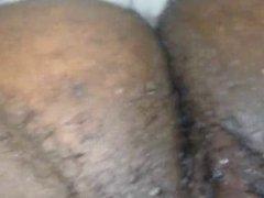 ebony wet hairy pussy solo play