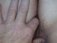 hairy asshole up in the air i finger her wet hairy pussy