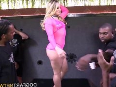 AJ Applegate Sucks And Fucks A Dozen Black Cocks