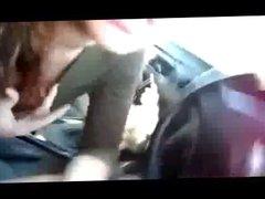 Teen sucks little cock in front seat