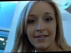 HOT! Blonde in public on webcam