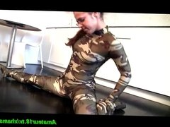 spandex teen contortion