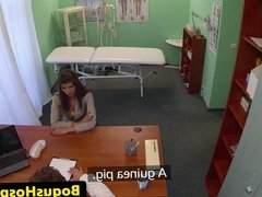 Czech amateur babe assfucked by doctor
