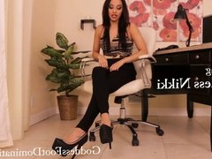 New Office Position POV - Foot Fetish - Domination - Femdom