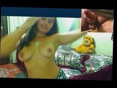 Desi Latina girl rai strips over cam