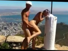 Amateur couple suck and fuck above Cape Town