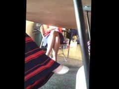 Teacher Under Table Upskirt! 02