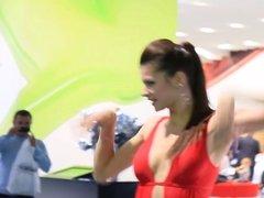 Hot Ass Red Dress Miniskirt Promoter