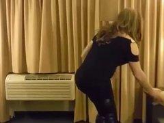 Crossdresser Strip-Tease in corset