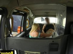Clit pierced amateur babe plowed in taxi