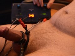Flaccid to orgasm in 90 seconds (e-stim + vibrator)