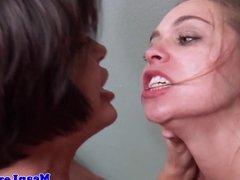 Lezdom prison sex with stunning milf Shay Fox
