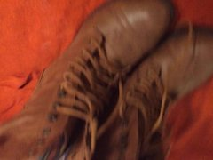 Cum on wifes combat boots