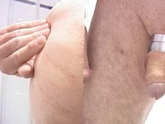 Clean shaving, enema  and stretching