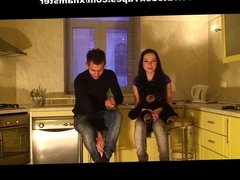 Stud bangs his hot gf in the kitchen