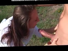 Doggy style outdoor sex on a picnic