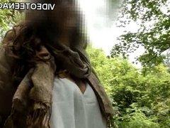 big tits teen outdoor casting