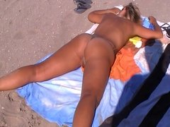 Nude pussy on the beach