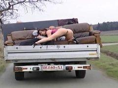 Elli fuck on a Truck