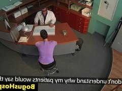 Doctor fucks hospital inspector on desk