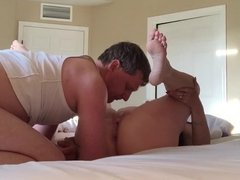 Amateur wife gets creampie from hubby's friend