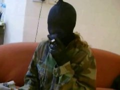 smoking pantyhosed mask robber