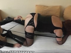 More kinky couple playing with t-girls and crossdressers