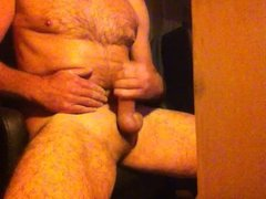 wanking with cum at the end