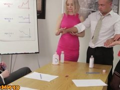 Office femdom affair with Chantelle Fox