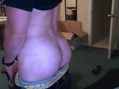 Athletic Cute Str8 Boy Shows His Super Sexy Bubble Ass OnCam