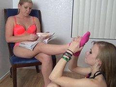 Ashley Edmonds lesbian foot fetish and sock fetish