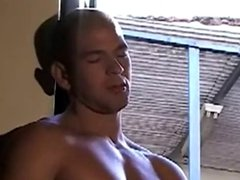 Gorgeous french arab hunk jerks off