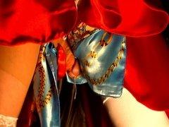 Satin Swing Dress