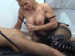 Mistress wanks slave