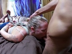 TIED UP, DEEPTHROATED & FUCKED