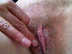 feeling my wet hairy pussy