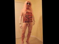 Pink haired tranny slut