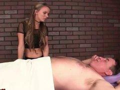 Hot teen babe dominant cock massage