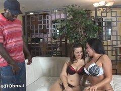 Big tits deepthroating black dick