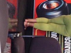 mature ebony at car shop