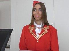 Hungarian Hottie from Fakeflightagent Fucked