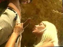 blonde gets fucked in sea cave