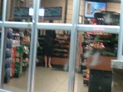 Public Flashing at a local gas station