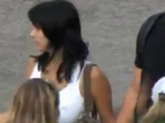 compilation big boob bouncing and walking in street