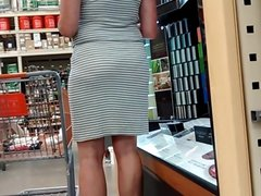 candid milf in tight see through dress 2