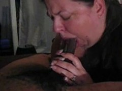 BBW sucking and swallowing BBC