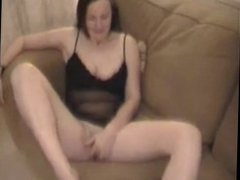 Magnificent footjob by  mature lady and cum on her feet -