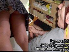 Eva upskirt cumming